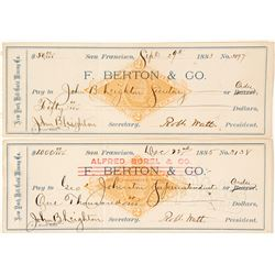 Two New York Hill Gold Mining Co. Revenue Checks,