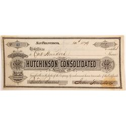 Hutchinson Consolidated Mining Company Stock