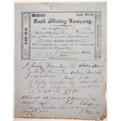 York Mining Company Certificate