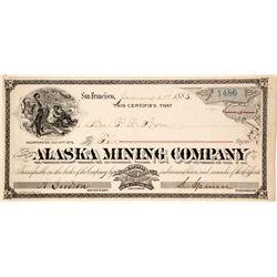 Alaska Mining Company Stock, Pike City, Sierra County