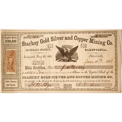Starkey Gold Silver and Copper Mining Company Stock