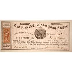 Coast range Gold & Silver Mining Company Stock