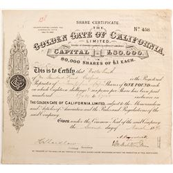 Golden Gate of California Ltd shares