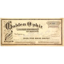Golden Ophir Mining Co. Stock