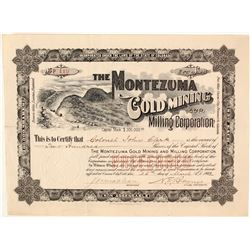Montezuma Gold Mining & Milling Corporation Stock Certificate, Barnes City, CO, 1902