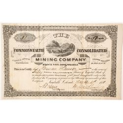 Commonwealth Consolidated Mining Company Stock