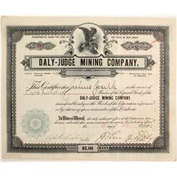 Daly-Judge Mining Company Stock