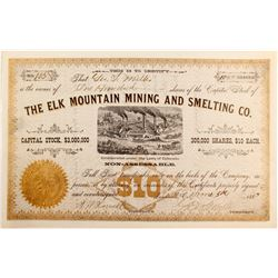 Elk Mountain Mining and Smelting Company Stock