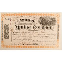 Cashier Mining Company of Colorado Stock