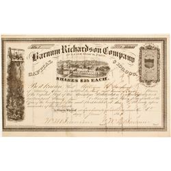 Barnum Richardson Company Stock - NUMBER 1