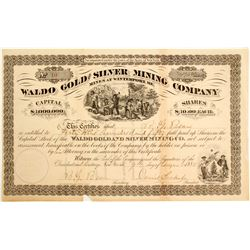 Waldo Gold and SIlver Mining Company Stock