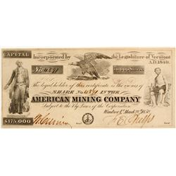 American Mining Company Stock