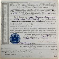 Mass Mining Company of Pittsburgh Stock