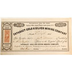 Cataract Gold & Silver Mining Company Stock