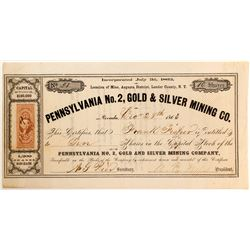 Pennsylvania No. 2, Gold & Silver Mining Company Stock