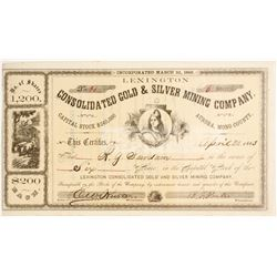 Lexington Consolidated Gold & Silver Mining Company Stock