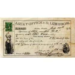 D. Lundbom Assay Receipt