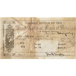 First National Bank of Austin Assay Receipt