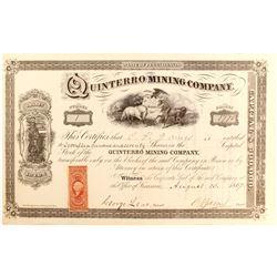 Quinterro Mining Company Stock - Rare, Unique #1