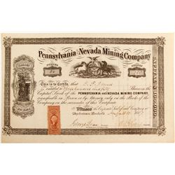 Pennsylvania and Nevada Mining Company Stock