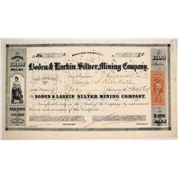 Boden & Larkin Silver Mining Company Stock