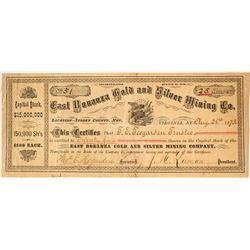 East Bonanza Gold & Silver Mining Company Stock