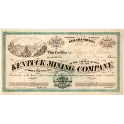 Kentuck Mining Company Stock - G. T. Brown Lithographer