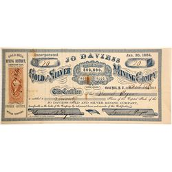 Jo Daviess Gold and Silver Mining Company Stock