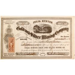 Julia Hunter Gold and Silver Mining Company Stock