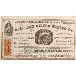 Marshall Gold and Silver Mining Company Stock