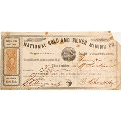National Gold and Silver Mining Company Stock