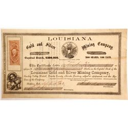 Louisiana Gold and Silver Mining Company Stock