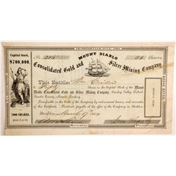 Mount Diablo Consolidated Gold and Silver Mining Company Stock
