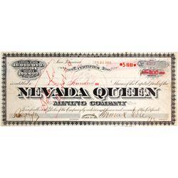 Nevada Queen Mining Stock