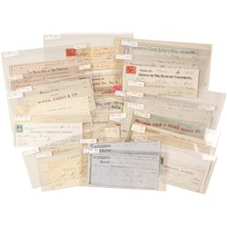 Nevada Comstock Check Collection