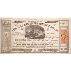 Rich Gold and Silver Mining Company Stock