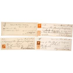 Summit Mill Co. (4 checks, Revenue Stamped)