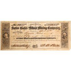 Sutro Gold & Silver Mining Company