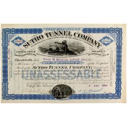 Sutro Tunnel Co Rare Cobalt Stock