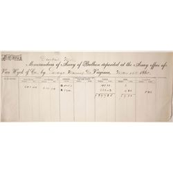 Van Wyck Assay Sheet, 1865
