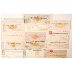 Virginia City, Nevada Mining Check Collection (Comstock) incl. Mackay Autograph