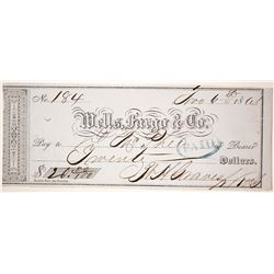 Wells Fargo Check, 1861