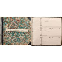 Best & Belcher 1870's Receipt Book