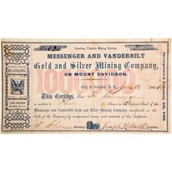 Messenger & Vanderbilt Gold & Silver Mining Company Stock
