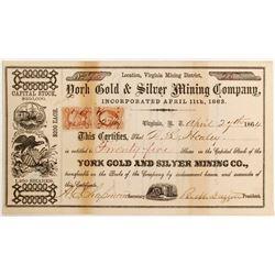 York Gold & Silver Mining Company Stock