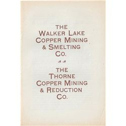 Two Walker Lake Copper Mining Company Prospectuses