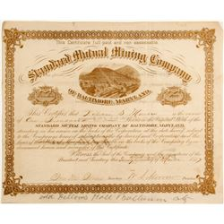 Standard Mutual Mining Company of Baltimore, Maryland Stock