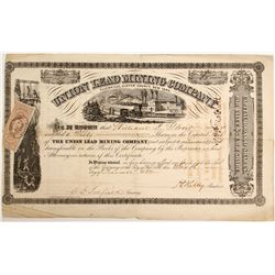Union Lead Mining Company of Ellenville Ulster County, New York Stock