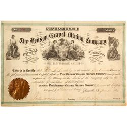 Benson Gravel Mining Company Stock