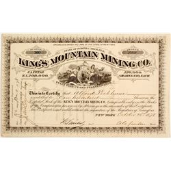 King's Mountain Mining Company stock